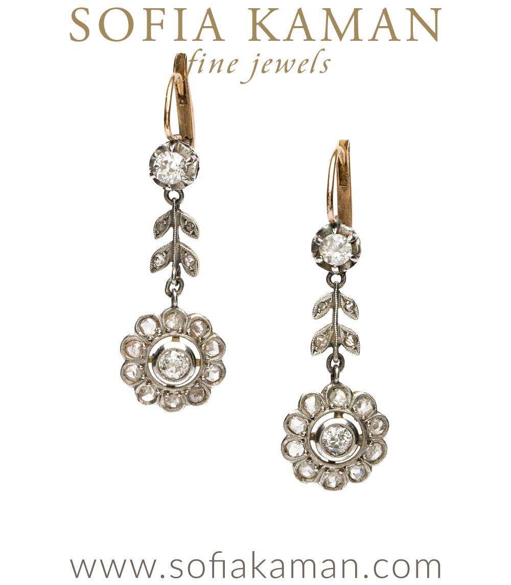Vintage Archive Edwardian Floral Dangle Earrings