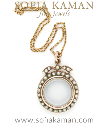 Victorian Pearl Locket