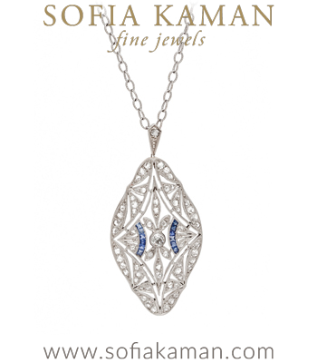 Edwardian Diamond Marquis Necklace