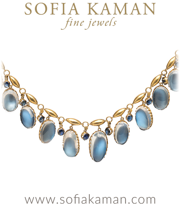 June Birthstone - Vintage Edwardian Moonstone Necklace