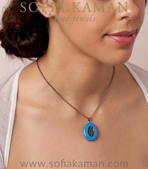 Something Blue Necklace For Engagement Rings