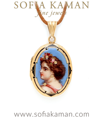 Art Nouveau Sweet Maiden Locket