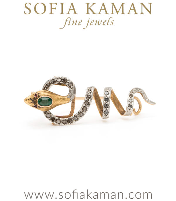 Vintage Snake Pin Perfect for Victorian One of a Kind Engagement Ring curated by Sofia Kaman.