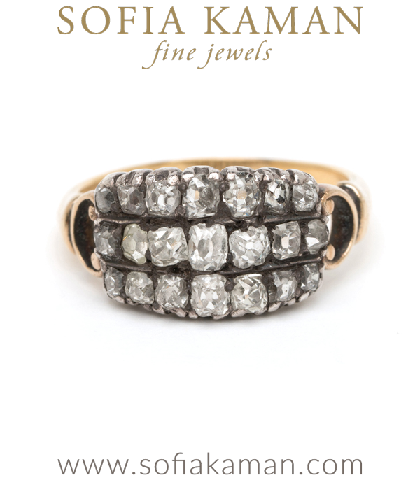 Classic Boho Diamond Vintage Engagement Ring curated by Sofia Kaman.