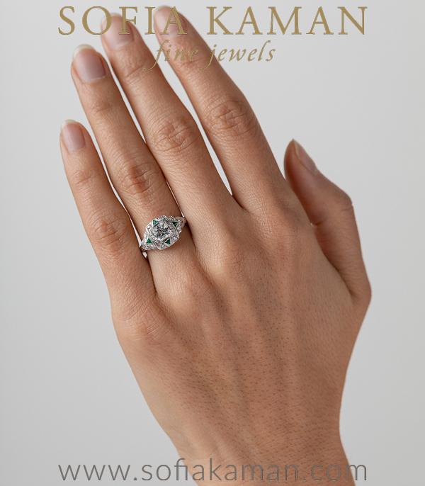Vintage Platinum Art Deco Diamond Engagement Ring