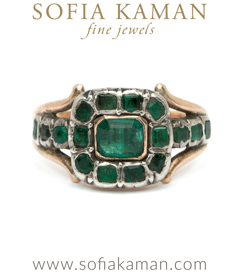 Cleo Georgian Emerald Ring