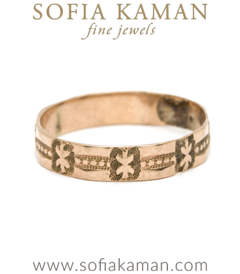 Vintage Victorian Stackable Engravable Thin Wedding Band