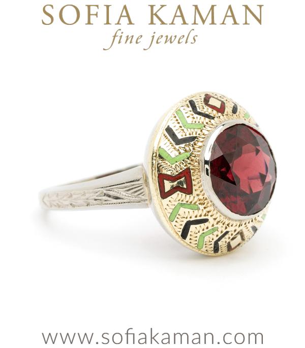 Bohemian Garnet Statement Ring