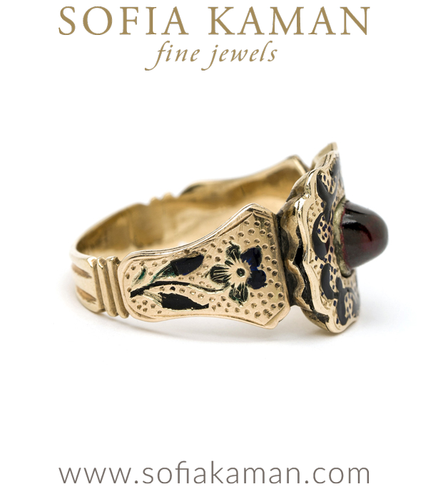 Antique Victorian Garnet Statement Ring Curated By Sofia Kaman