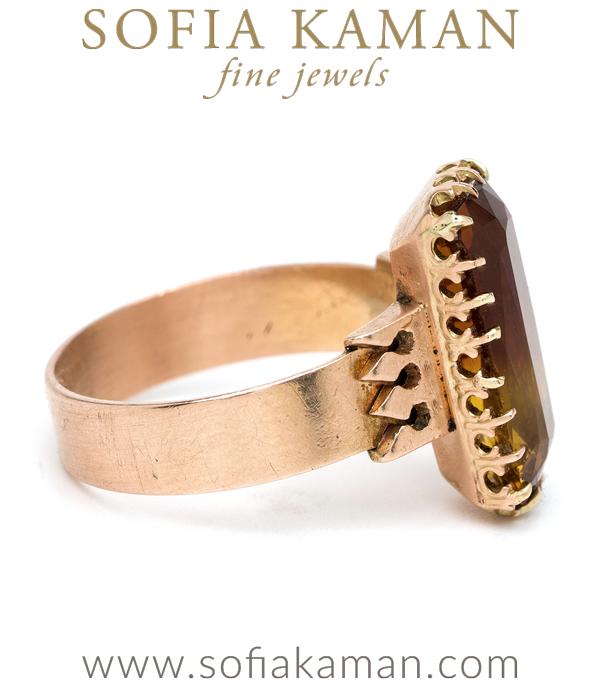 Vintage Victorian Citrine Ring