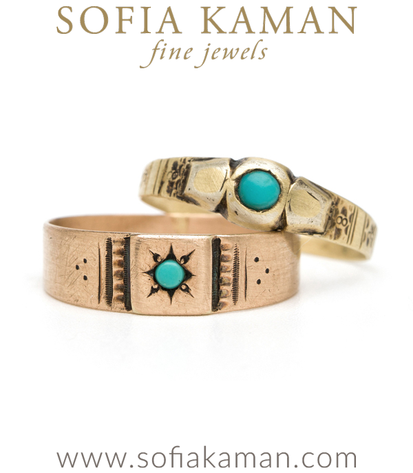 Turquoise Boho Baby Stacking Ring