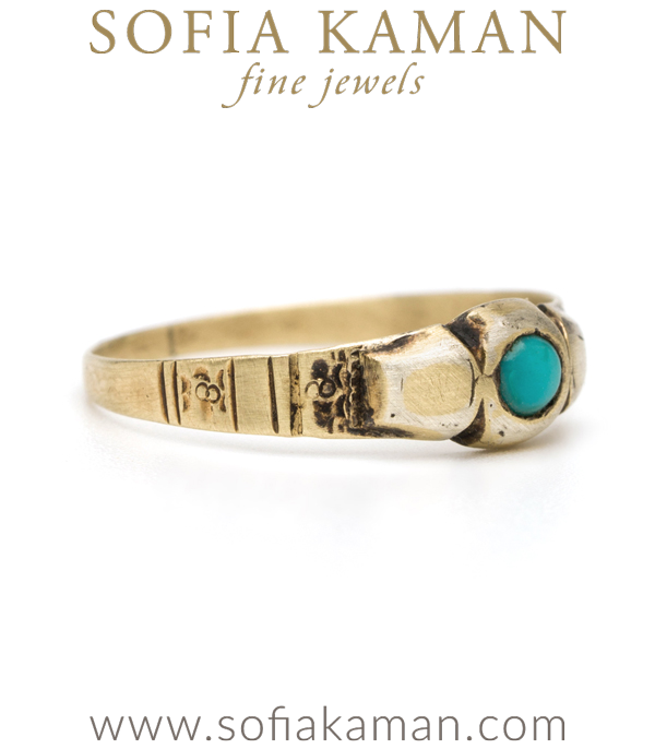 Victorian Turquoise Boho Ring