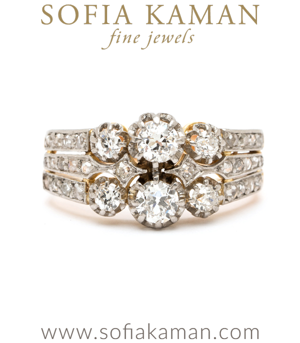 Edwardian Rose Cut Diamond Ring