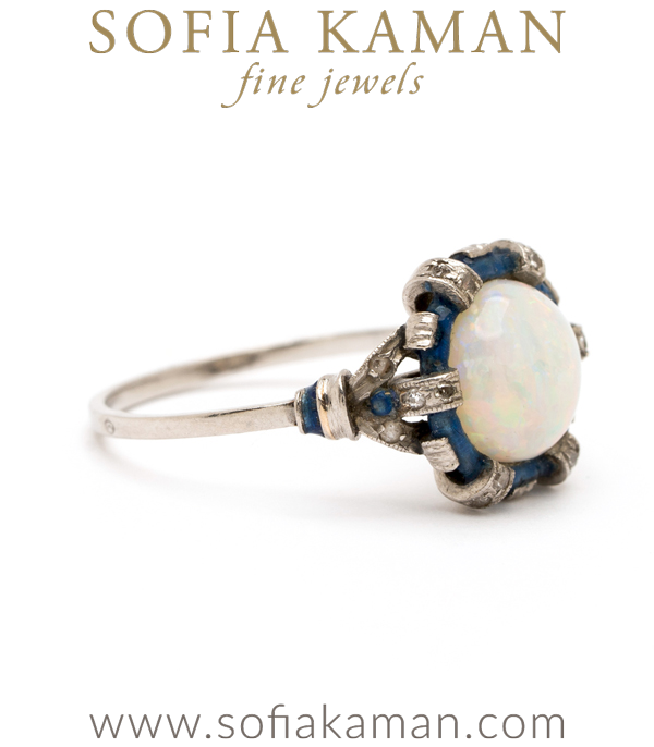 Vintage Edwardian Opal Stacking Ring