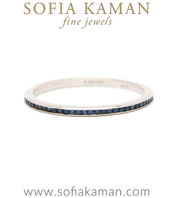 Vintage Platinum Sapphire Eternity Band curated by Sofia Kaman