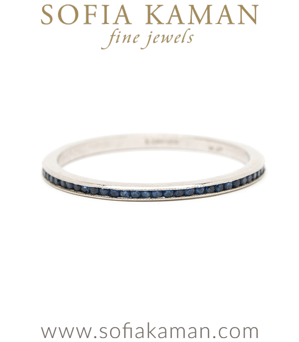 Vintage Platinum Sapphire Eternity Band curated by Sofia Kaman.