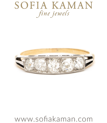 Art Deco Diamond Wedding Band curated by Sofia Kaman