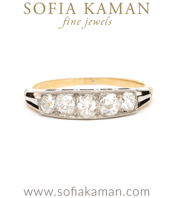Art Deco Diamond Wedding Band curated by Sofia Kaman.