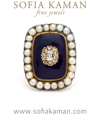 Regal Enamel Ring