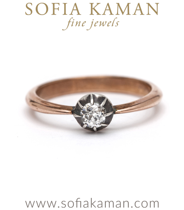 Victorian Old Mine Cut Diamond Solitaire Bohemian Vintage Engagement Ring curated by Sofia Kaman
