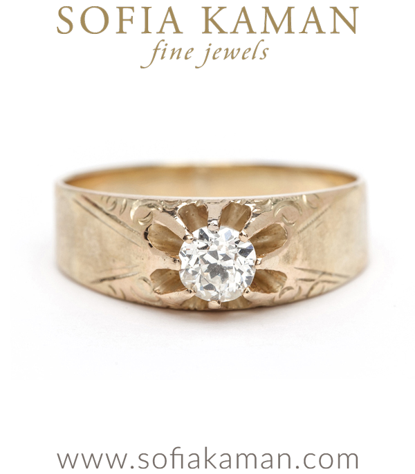 Victorian Buttercup Diamond Bohemian Vintage Engagement Ring curated by Sofia Kaman