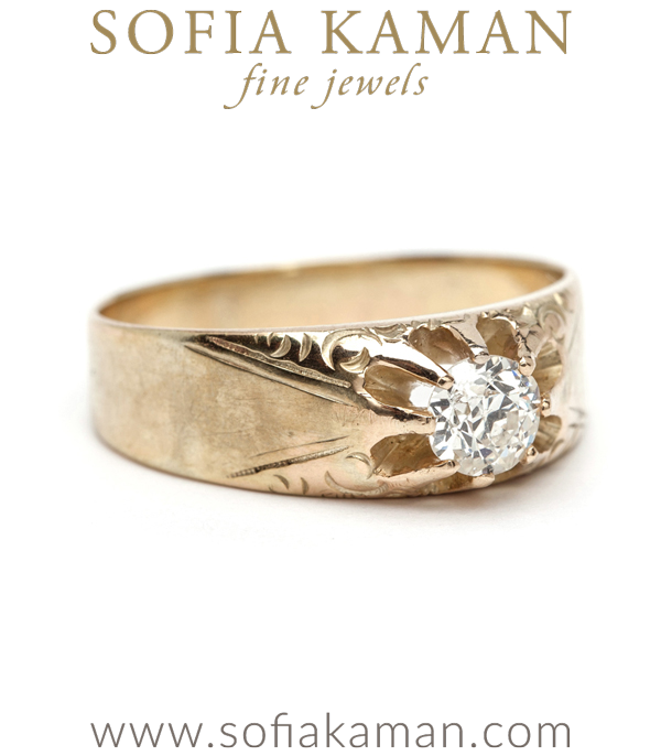 Victorian Buttercup Diamond Bohemian Vintage Engagement Ring