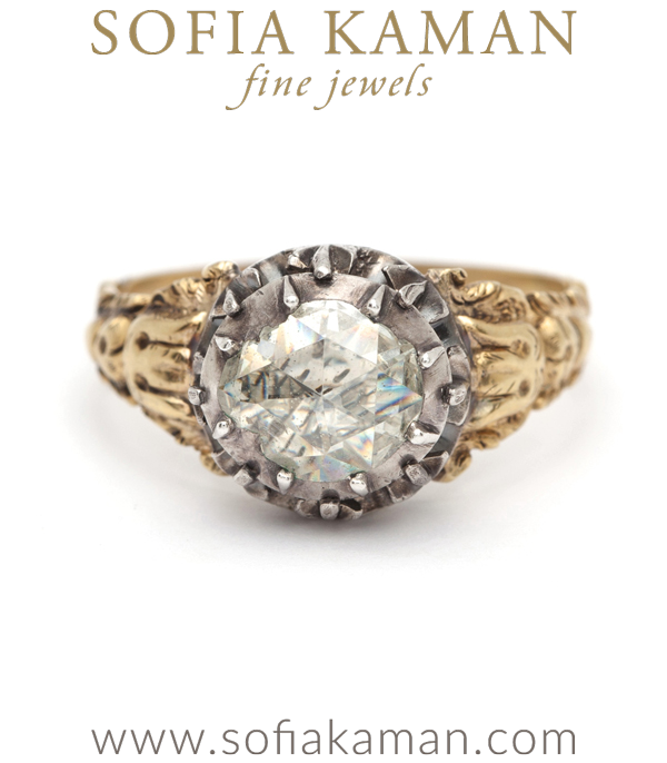 Rose Cut Diamond Vintage Engagement Ring curated by Sofia Kaman.