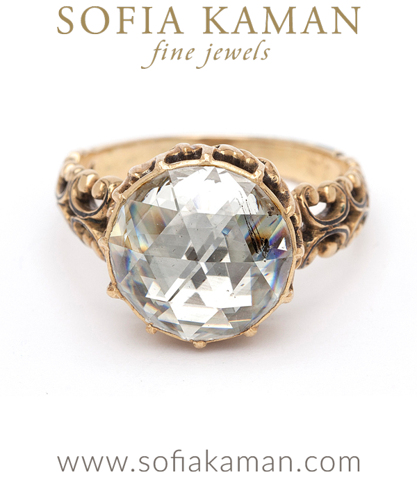 Antique Rose Cut Diamond Vintage Engagement Vintage Engagement Ring curated by Sofia Kaman.