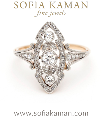 Edwardian Belle Epoque European Cut Diamond Bohemian Vintage Engagement Ring curated by Sofia Kaman