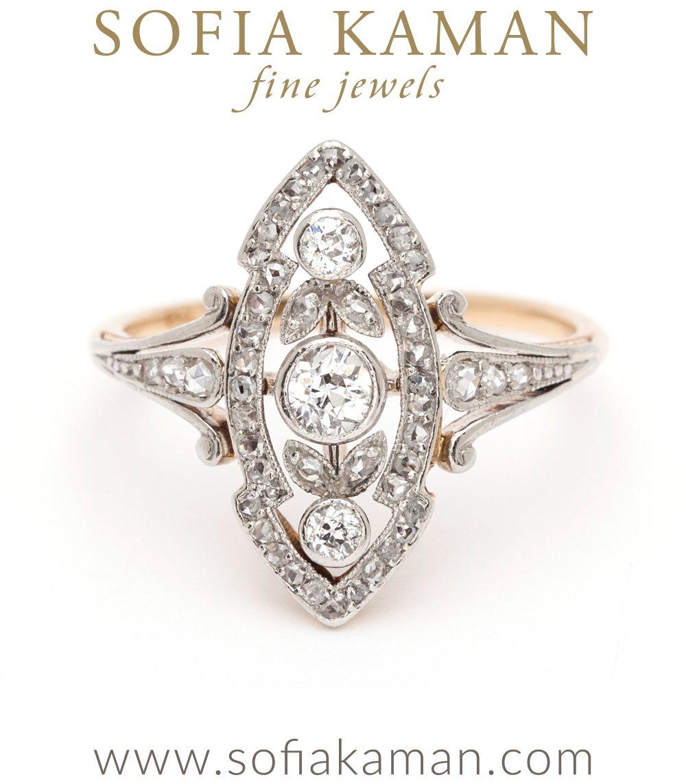 Edwardian La Jolie Vintage Engagement Ring
