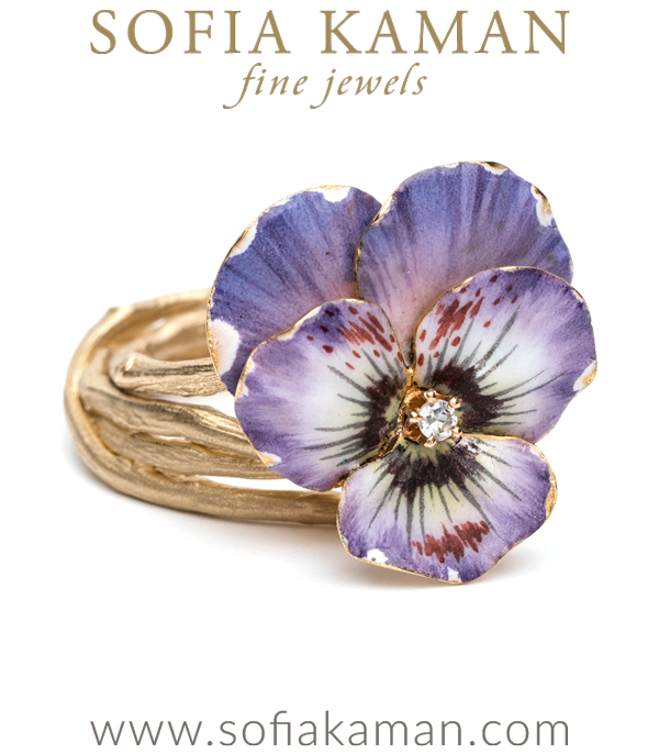 Large Pansy Ring