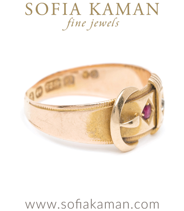 Diamond Sapphire Ruby Buckle Ring
