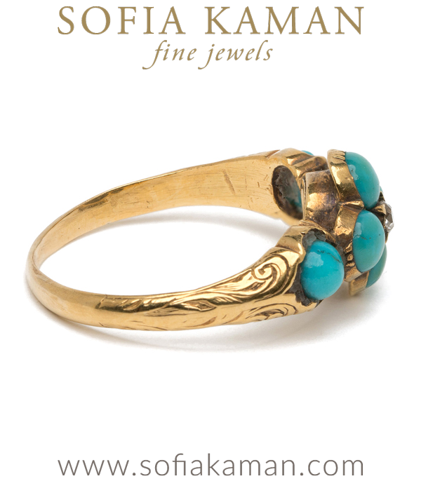 Forget Me Not Turquoise Ring
