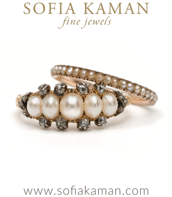 Antique Pearl Stacking Ring