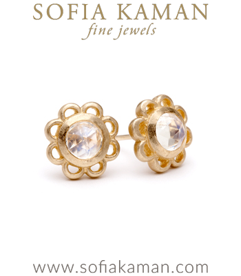 Florette Studs with Moonstone made in Los Angeles