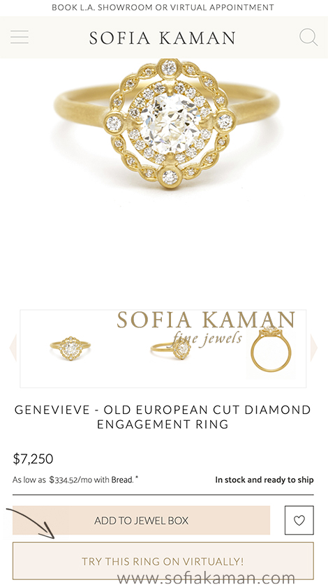 My Treasure Alternative Engagement Ring Virtual Try On