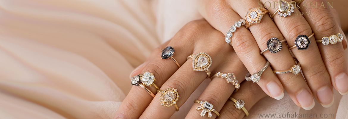 Unique Engagement Rings with by Sofia Kaman