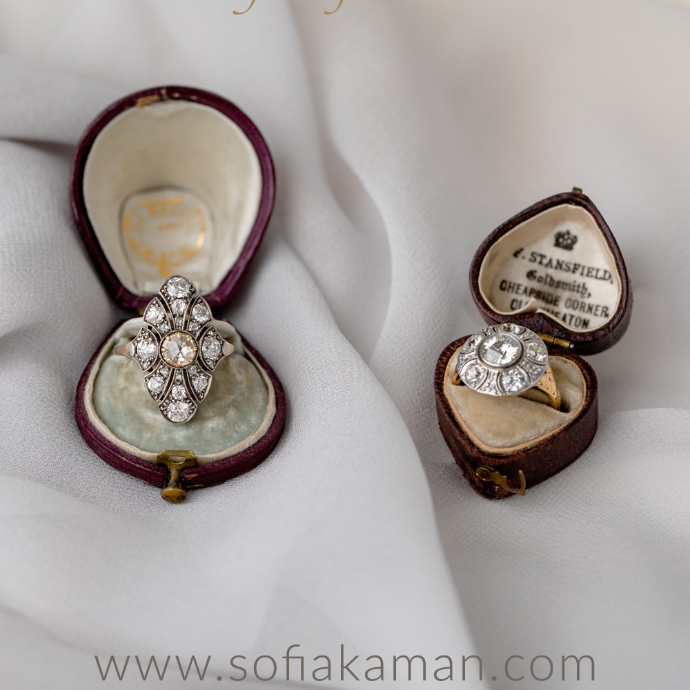 Vintage Diamond Engagement Rings curated by Sofia Kaman